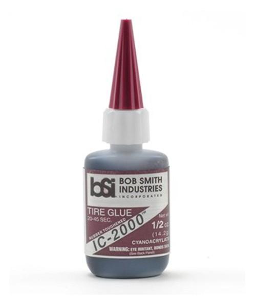 BSI IC-2000 Black Rubber Toughened CA 1/2oz
